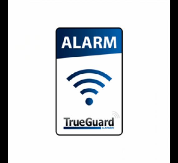 Alarm klistermærke TrueGuard. Tryk på begge sider
