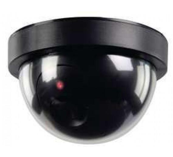 Dummy kamera sort dome med diode