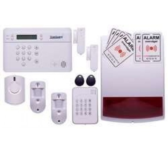 Fotoalarm stor pakke med sirener og brik tastatur
