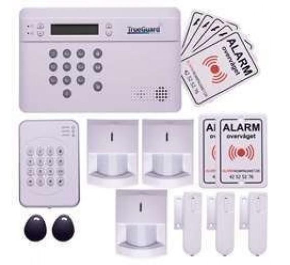 TrueGuard SMART alarm til hus med brik tastatur