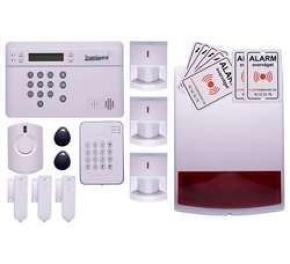 TrueGuard SMART alarm til hus med sirener og brik tastatur