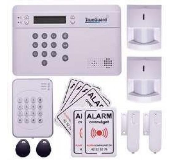 TrueGuard SMART alarm til rækkehus med brik tastatur