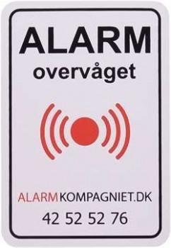 ALARM klistermærke Alarmkompagniet.dk