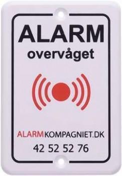 Alarmskilt hård plast