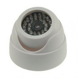 Dummy dome kamera med 30 LED og blinkende diode