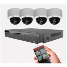 Videoovervågning IP med 4 dome kamera-20