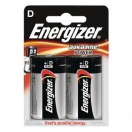 D alkaline batteri (2 pak)