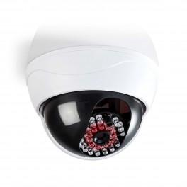 Dummy kamera hvidt med rødt IR lys