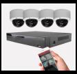 Videoovervågning IP med 4 dome kamera