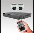Videoovervågning Coax med 2 kamera og optager