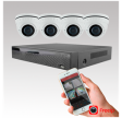 AK-4 Videoovervågning med 4 IP dome kamera og optager